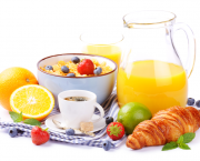 Fresh healthy breakfast with copyspace